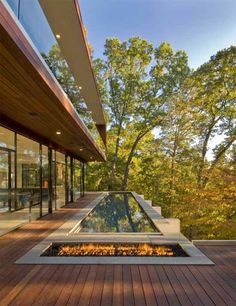 Jahzz | love this #Outdoor-deck_Pool, #warm_flame Design