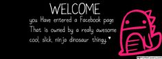 Cute Welcome - Facebook Timeline Cover