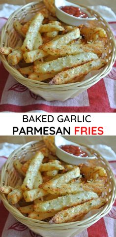 Garlic Parmesan Fries, Baked Garlic, Garlic Minced, Vegetable Dishes, Vegetable Recipes, Potato Recipes, Chicken Recipes, Side Dish Recipes, Easy Dinner Recipes