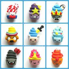 Adventure Time Cupcake Charms by Marielishere.deviantart.com on @deviantART