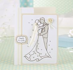 Free illustrations for your handmade wedding cards. Just print out and embellish!