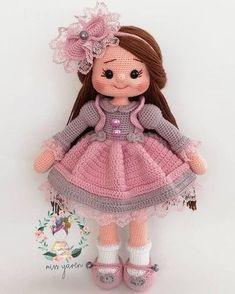 Doll Amigurumi Free Pattern, Crochet Dolls Free Patterns, Crochet Amigurumi Free Patterns, Crochet Doll Pattern, Amigurumi Doll, Crochet Doll Clothes, Knitted Dolls, Dog Coat Pattern, Crochet Doll Tutorial