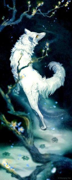 Illustration art wolf --- Looks like Kiba. :)