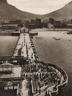 size: Photographic Print: Promenade Pier at Cape Town, South Africa : Entertainment Old Pictures, Old Photos, Vintage Photos, Cape Town Holidays, City By The Sea, Cape Town South Africa, Local Attractions, Most Beautiful Cities, Countries Of The World