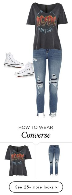 """Untitled #10"" by ally-bohner on Polyvore featuring River Island, Topshop and Converse"