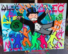 In the studio with Alec Monopoly  Inquire for availability   info@guyhepner.com www.guyhepner.com  #alecmonopoly