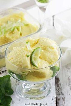 Lody jogurtowe z mango i limonką