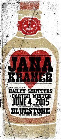 GigPosters.com - Jana Kramer - Hailey Whitters - Carter Winter