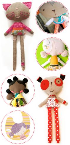 softies - love their super looonnnggg legs. I don't know who I'd make these for, but they are cute!