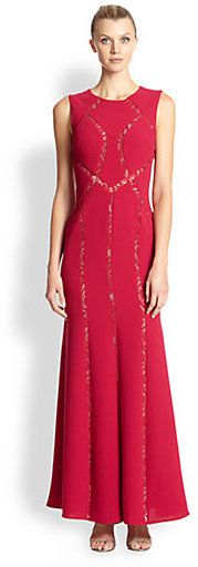 BCBGMAXAZRIA Alesia Illusion Inset Gown on shopstyle.com