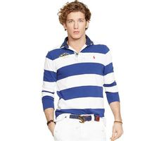 awesome Men Nautical Jersey Rugby Shirt Check more at http://shipperscentral.com/wp/product/men-nautical-jersey-rugby-shirt/