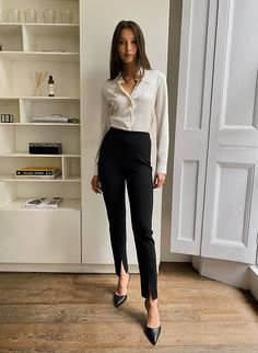 JOTHAM PANT - High-rise skinny pant Office Outfits, Skinny Pants, My Style, Fabric, Stuff To Buy, Inspiration, Clothes, Japanese, Ankle
