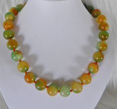 Stunning Chunky Bold Jade Necklace. by veryfrenchbydesign on Etsy, $275.00