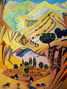 Saryan, Martiros (1880-1972) - 1924 Polychrome Landscape by RasMarley, via Flickr