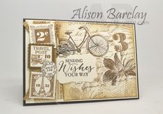 Gothdove Designs - Alison Barclay Stampin' Up! ® Australia : Stampin' Up! Australia - Color Coach Card #112 - Postage Due