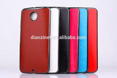 NEW ARRIVAL for google nexus 6 hard phone case with color leather skin