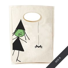 Organic Lunch Bag, Spooky Witch | Lunch Bag | Fluf | Jonesy
