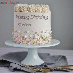 Buttercream Birthday Name Wish Cake - eNameWishes Buttercream Birthday Cake, Birthday Wishes Cake, Happy Birthday Celebration, Happy Birthday Cakes, Birthday Wishes With Name, Birthday Name, Best Christmas Quotes, Birthday Cake Pictures, Romantic Birthday