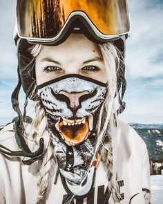 """248 Likes, 2 Comments - WOLFACE MASKS (@wolfacemask) on Instagram: """"Wild Beast WOLFACE the Face Mask Check it out on WOLFACE.EU #snowboard #ski #snowboarding…"""""""