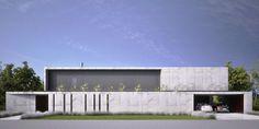 art minimaliste et l'architecture Minimal Architecture, Concrete Architecture, Residential Architecture, Amazing Architecture, Contemporary Architecture, Architecture Details, Interior Architecture, Arch House, Facade House