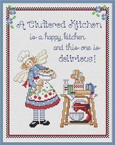 A Cluttered Kitchen Cross Stitch Pattern