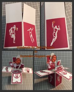Eastunders Creations: Basketball Popup Box Card