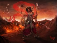 illustrations of Indian gods that will blow away your mind - Murugan-The God Of War