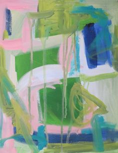 Abstract 11 x 14 oil on canvas by Kerry by KerrySteelefineart, $155.00