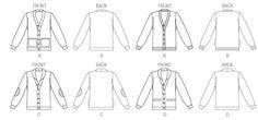 M6803   Misses'/Men's Cardigans   Jackets/Vests   McCall's Patterns