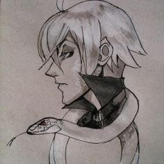 Snake traditional sketch by t-stray Black Butler/ Kuroshitsuji