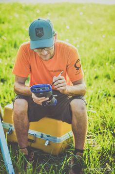 Boyfriend, land surveyor, GPS land surveyor, land surveying, blew and associates, working, hard worker, work Photoshoot, land surveying Photoshoot, robot, data collector, Hannah sue photography
