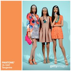 """""""From tangerine to strawberry ice, Pantone is everywhere you look at #MBFW. #FashionColorReport #NYFW #Inspiration - Getty Images Fashion on Twitter"""