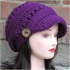 Looking for your next project? You're going to love Brooklyn Newsboy Hat by designer AlyseCrochet.