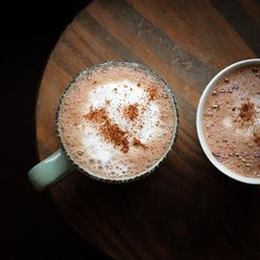 "Cappuccino photography 8""x8""  Kitchen decor Rustic photo Mint Brown Dark Coffee"