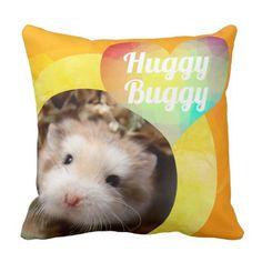 Shop HammyVille - Cute Hamster Heart Huggy Buggy Throw Pillow created by HammyVille. Robo Hamster, Roborovski Hamster, Hamster Names, Cute Hamsters, Diy Funny, Slumber Parties, Geometric Designs, Cute Pink, Custom Pillows