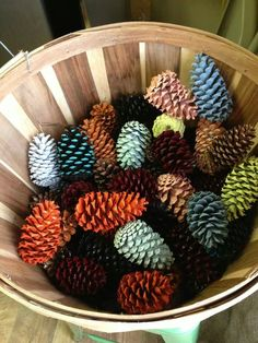 Scented waxed dipped pinecones