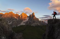 Tramonto sulle Pale di San Martino dalla cima Castellazzo
