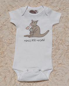 Organic Cotton Baby Clothing | Mama's Little Marsupial | Baby Girl Bodysuit — Little Marsupials