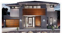 Black brick house designs - House and home design Two Story House Design, Modern House Design, Style At Home, Brick House Designs, Brick Cladding, Brickwork, Home Design Floor Plans, Brick Pavers, Facade House