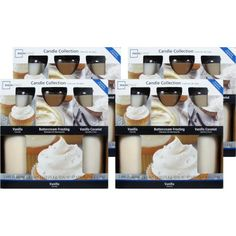 Mainstays 5 Piece Candle Value Set, Vanilla, 4 Pack, White