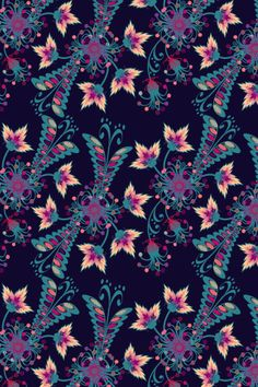 Could be any garden pattern by lilypadster. Flower Wallpaper, Pattern Wallpaper, Color Patterns, Print Patterns, Plum Art, Text Background, Beautiful Patterns, Cover Photos, Art Deco