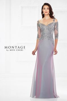 15b283fee34 Montage by Mon Cheri 118974 Cold-Shoulder Formal Dress