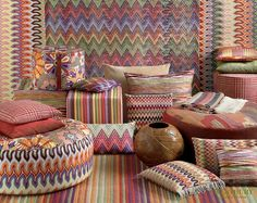 We love Missoni! Missoni's legendary striped zigzag pattern has driven design lovers crazy for decades. These accent pieces will make any room pop, as well as make you look like the seasoned designer. Missoni, Objet Deco Design, Print Wallpaper, Soft Furnishings, Home Textile, All Modern, Decoration, Interior Inspiration, Style Inspiration