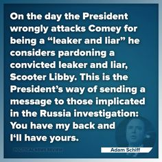 What a fucking snake!  Guilty much?  Stop saying you never colluded or didn't obstruct justice because your actions say otherwise!