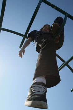 Foreshortening in the playground- This would be a fun image for a drawing... Have the kids take pictures like these