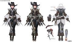 ArtStation - 'Flare' angel armor, Asker online, Woo Kim