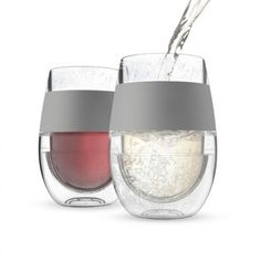 Perfectly Chilled Wine Glass, Set of 2, from HomeWetBar.com