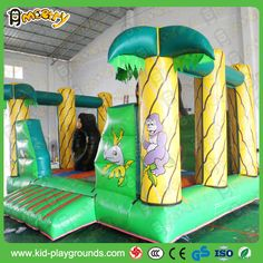 Inflatable jungle Kiddie Castle Play Center