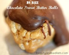 I can't stop eating these and they are too easy to make! No Bake Chocolate Peanut Butter Balls!
