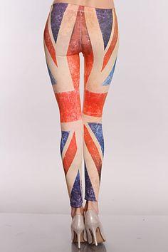 Beige Multi Union Jack Leggings Tight Leggings 1a3fe0ab11